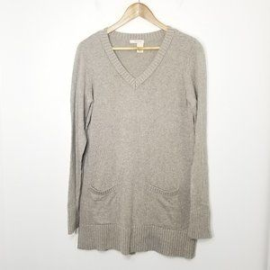 DKNY Jeans | Gray Tunic Angora Blend Sweater M